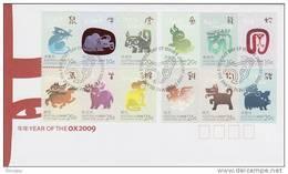 Christmas Island-2009 Year Of The OX Zodiac  FDC - Christmas Island