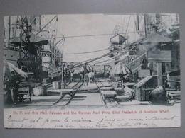CPA Antique Postcard - Hong Kong - Chine China - Boat P&O Mail Palauan & German Mail Prinz Eitel Frederik Kowloon Wharf - Chine (Hong Kong)