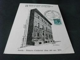 11° Mostra Filatelica Numismatica Convegno Delle Antiche Romagne Citta' Di Imola 1977 PALAZZO CALDERINI ILL. ANDERLINI - Manifestazioni