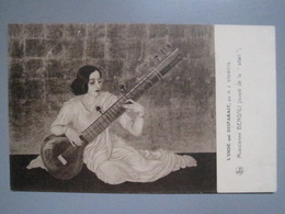 CPA Antique Postcard - L'Inde Qui Disparait Par H. J. Stowitts - Musicienne Bengali Jouant De La Sitar - Inde India - Inde