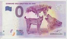 Billet Touristique 0 Euro Souvenir Belgique - Domaine Des Grottes De Han 2017-1 N°ZEMX000484 - EURO