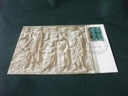 FRAMMENTO DI UN BASSORILIEVO DELL'ARA PACIS PROCESSIONE DI SENATORI MAXIMUM CARD N° 90 - Sculture