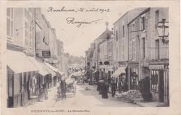Haute Marne - BOURBONNE-les-BAINS - La Grande-Rue - Dos Simple 1902 - Attelage - Café Retaurant - Bourbonne Les Bains