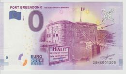 Billet Touristique 0 Euro Souvenir Belgique - Fort Breendonk 2017-1 N°ZENS001208 - EURO