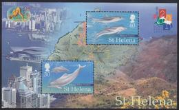 ST.HELENA 2001, Dolphins, MNH Souv.block - Saint Helena Island