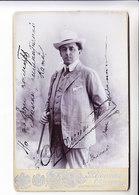 OSKAR KAMIONSKY  MUSIC OPERA  RUSSIA JUDAICA  Photo  AUTOGRAPH ODESSA 19.06/1905 110x165 Mm - Autographs