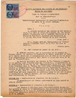 VP12.723 - PARIS - Acte 1953 - Entre La S.N.C.F Ligne De VIERZON à CHATEAUROUX - Gare De VIERZON - FORGES & Mr  LEVEQUE - Chemin De Fer