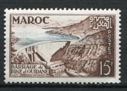 MAROC  -  Yv. N°  329  **  MNH 15f  Barrage Cote  1,25  Euro  TBE  2 Scans - Maroc (1891-1956)