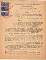 VP12.724 - PARIS - Acte 1953 - Entre La S.N.C.F Ligne De PONT DE BRAYE à BLOIS - Gare De TROO & Mrs BARBAS & PLAILLY - Chemin De Fer