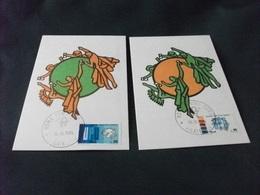EMBLEMA UFFICIALE DELL'U.P.U. UNIONE POSTALE UNIVERSALE MAXIMUM CARD N° 87 88  ITALIA - Poste & Postini