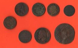Lotto 8 Monete In Rame E Gettone Da Classificare - Monete