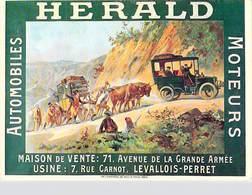 PUB Publicité  NUGERON   VA 1- Nos VIEILLES AFFICHES  Automobiles HERALD Moteurs Levallois Perret *PRIX FIXE - Advertising