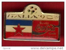 18720-.italie.coupe Du Monde De Football 1990 .coca Cola. - Football