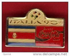 18723-.italie.coupe Du Monde De Football 1990 .coca Cola. - Football