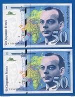 50  Fr  Suite  2  Billets - 1992-2000 Last Series