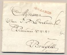 Nederland - 1758 - HOLLANDE Stempel Op Complete Vouwbrief Van Rotterdam Naar Bruxelles - Nederland