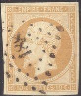 NAPOLEON ND N° 13A  BISTRE-BRUN OB. PC 188 AURILLAC  TB - 1853-1860 Napoleon III