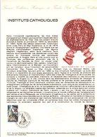 1977 DOCUMENT FDC INSTITUTS CATHOLIQUES - Documentos Del Correo