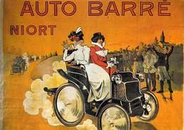 PUB Publicité NUGERON VA 12 -NosVoitures - Automobiles AUTO BARRE Niort (auto Voiture Automobile)*PRIX FIXE - Advertising