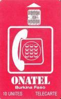 Tarjeta Burkina Faso - Onatel - 10 Unites - Burkina Faso