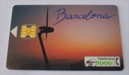 Tarjeta Spain CP-030 Barcelona, Torre De Telecomunicaciones - España
