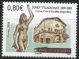 "Andorre  2016 :   ""Sculpteur Josep Viladomat""  - Neuf ** - Andorre Français"