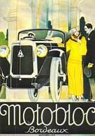 PUB Publicité NUGERON  VA 17-Nos VIEILLES AFFICHES  Automobiles MOTOBLOC BORDEAUX  (auto Voiture) *PRIX FIXE - Advertising
