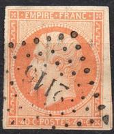 NAPOLEON ND EMPIRE N° 16 ORANGE OB. PC 2115 MONTMARAULT ALLIER IND.8 - 1853-1860 Napoleon III