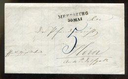 Baden / 1854 / Bf. L2-o MEERSBURG, Rs. L2-o RADOLFZELL, Innen Pfandstrichsbewilligung (11828) - Baden