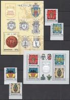 M260 2008 ROMANIA ART EMBLEMS INSEMNE HERALDICE ROMANESTI 1BL+1SET+1KB MNH - Coat Of Arms