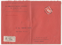 Italy Letter Cover Travelled Registred 1944 Torino To Rapallo B180715 - 1900-44 Vittorio Emanuele III