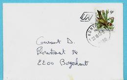 N° 2190 Op Omslag, Afst. KONTICH 22/10/1987 + Postbusletter UX - 1985-.. Vögel (Buzin)