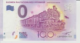Billet Touristique 0 Euro Souvenir Finlande - Suomen Rautatiemuseo Hyvinkaa 2017-1 N°LEPZ004133 - Private Proofs / Unofficial