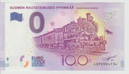 Billet Touristique 0 Euro Souvenir Finlande - Suomen Rautatiemuseo Hyvinkaa 2017-1 N°LEPZ004134 - Private Proofs / Unofficial