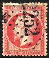 NAPOLEON NON LAURE N° 24a ROSE FONCE  OBLITERE GC 2252 MARVEJOLS COTE> 90 € - 1862 Napoléon III