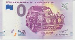 Billet Touristique 0 Euro Souvenir Finlande - Mobilia Kangasala-Rally Museum Finland 2018-1 N°LEAD002097 - Private Proofs / Unofficial