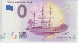 Billet Touristique 0 Euro Souvenir Finlande - Forum Marinum-Turku 2018-1 N°LEAB001598 - Private Proofs / Unofficial
