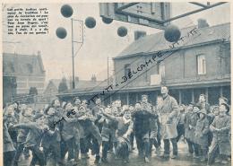 BASKET : PHOTO, JEAN DEGROS, AS DENAIN-VOLTAIRE, COUR D'ECOLE, ECOLIERS, COUPURE REVUE (1960) - Sports