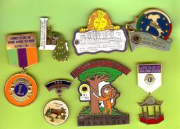 7 Pin's /Broches Club Lions - SP26 - Associations