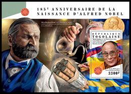 TOGO 2018 MNH** Alfred Nobel Dalai Lama S/S - OFFICIAL ISSUE - DH1828 - Nobel Prize Laureates