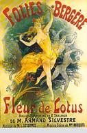 PUB PUBLICITE -NUGERON D 3 DANSE Et MAGIE FOLIES BERGERE Fleur De Lotus  (Cabaret  Spectacle)*PRIX FIXE - Advertising