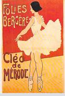 PUB PUBLICITE -NUGERON D 8 DANSE Et MAGIE FOLIES BERGERE Cléo De Mérode  (Cabaret Spectacle Dance)*PRIX FIXE - Publicité
