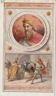 "Chromo Chocolaterie D'aiguebelle ""les Rois De France"" Childeric II 660-673 - Chocolate"