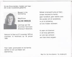 Dp. Meeus Silvie. ° Geel 1972 † Herentals 1988 - Godsdienst & Esoterisme