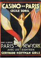 PUB PUBLICITE -NUGERON D 15 DANSE Et MAGIE- CASINO De PARIS Cécile SOREL  (Cabaret Spectacle)*PRIX FIXE - Publicité