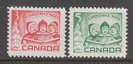 PAIRE NEUVE DU CANADA - NOËL 1967 (ENFANTS CHANTANT) N° Y&T 397/398 - Weihnachten