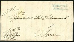 BRAUNSCHWEIG 1856, BRIEF MIT INHALT, STPL R2 IN BLAU LUTTER AM B:B, INTERESSANT - Brunswick