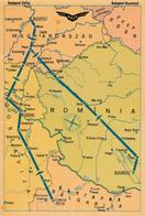 AVIATION CIVILE - 1959 - CARTE / AFFICHE PUBLICITAIRE : COMPAGNIE MALEV / HONGRIE - ROUTES En EUROPE (ab831) - 1946-....: Modern Era