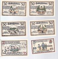 Notgeld - Gatersleben - Sachsen -  25 Pfg, 4 X 50 Pfg , 75 Pfg Serie Kompl. .  -  NG023 - [11] Local Banknote Issues