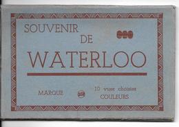 Waterloo Carnet Complet De 10 Cartes En Couleur Mais En 2 Parties Rare Seul En Vente Sur Delcampe - Waterloo